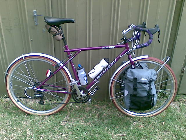 Behold, the Travesty, in all its beardo 650B touring majesty.