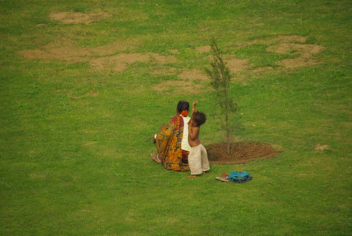 Woman and Child in Delhi