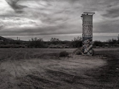 Roadside Sign, near the I10 and Maricopa, Arizona