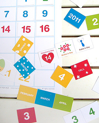 My Calendar - blank calendar for kids