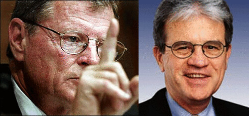 From left, images of Jim Inhofe and Tom Coburn