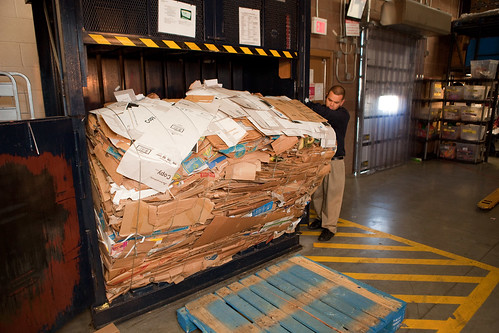 How Walmart recycles cardboard