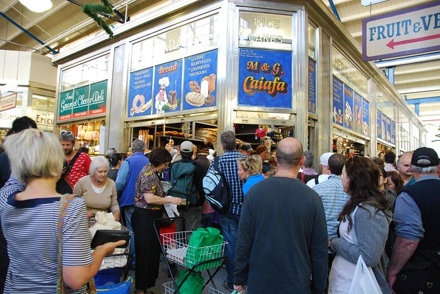 Crowds at Caiafa Bread - Queen Victoria Market
