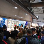 Crowds swarm Seafood and Oyster Spot - Queen Victoria Market