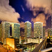Miami Skyline At Night by Kay Gaensler