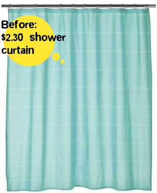 Before: clearance cotton shower curtain | Flickr - Photo Sharing!