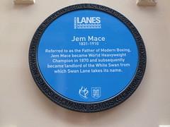 Photo of Jem Mace blue plaque