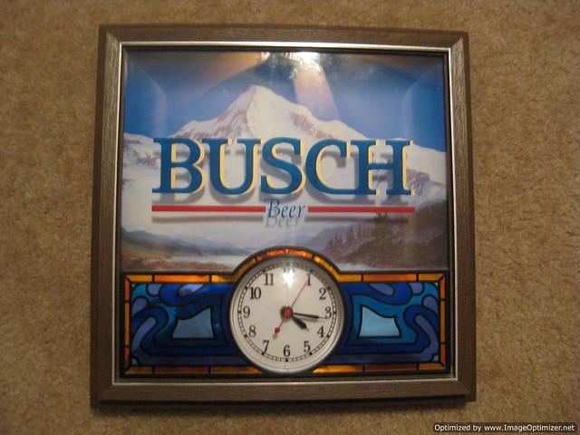Vintage Busch Beer Clock Sign Flickr Photo Sharing