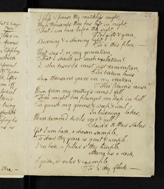 Robert Burns 'Holy Willie's Prayer' - detail page 2
