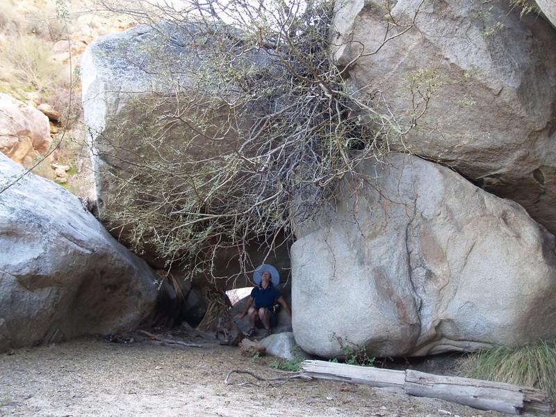 Kumeyaay sweathouse area in Cougar Canyon
