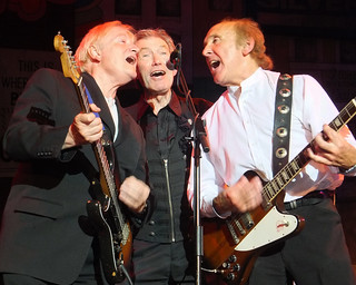 Mark Ellen of Vanity Fare, Dave Berry and Billy Kinsley of The Merseybeats