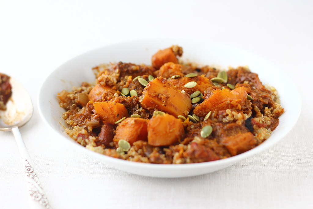 Butternut Squash Stew with Pepitas + Quinoa