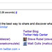 Social Sitelinks in Google