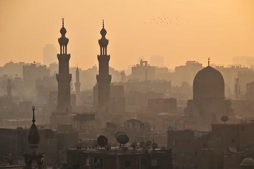 africa sunset skyline desert minaret muslim islam egypt mosque cairo 2010