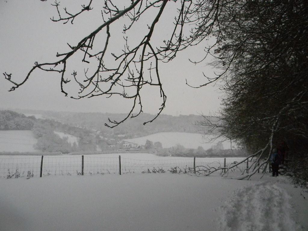 Snowy scene Princes Risborough to Great Missenden