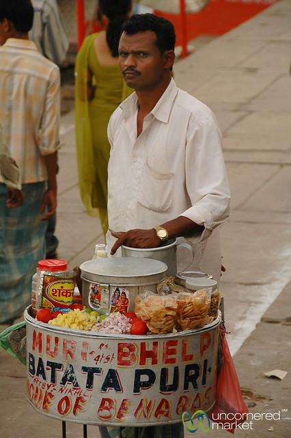 Bhel Puri Wallah - Varanasi, India