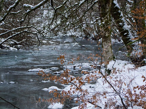 River Barle under ice