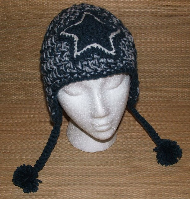Dallas Cowboys Knit Hat Pattern : dallas cowboys earflap hat Flickr - Photo Sharing!
