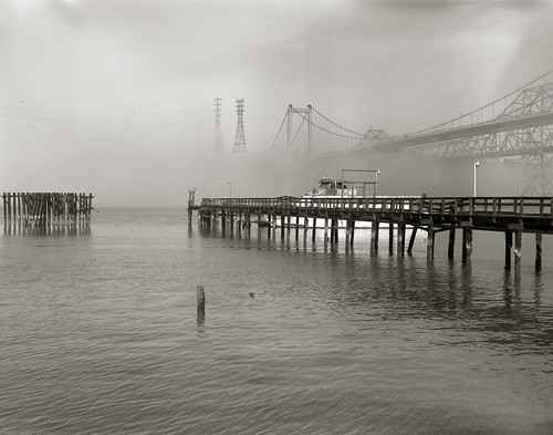 california bridge fog 4x5 largeformat graflex crockett speedgraphic carquinezstraits