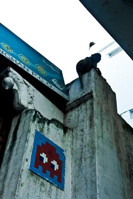Space Invader. In Varanasi?