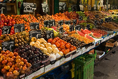 supermarket(0.0), city(0.0), whole food(1.0), market(1.0), greengrocer(1.0), produce(1.0), fruit(1.0), food(1.0), marketplace(1.0), public space(1.0), local food(1.0),