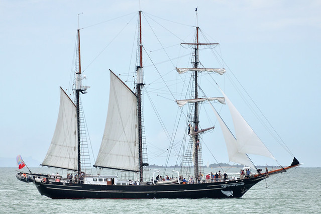 "The barquentine ""Spirit of New Zealand"""