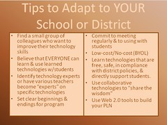 Creating a network of technology learners