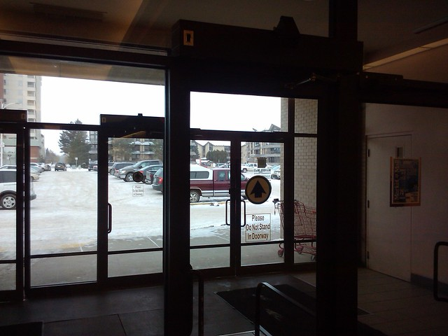 Automatic door with misplaced sticker flickr photo