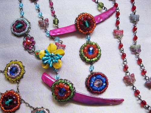 Necklace Mix -Farfalla- by *Caran*