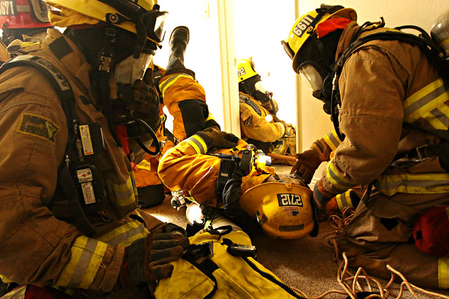 Rescue Training For Marine Corps Firefighters
