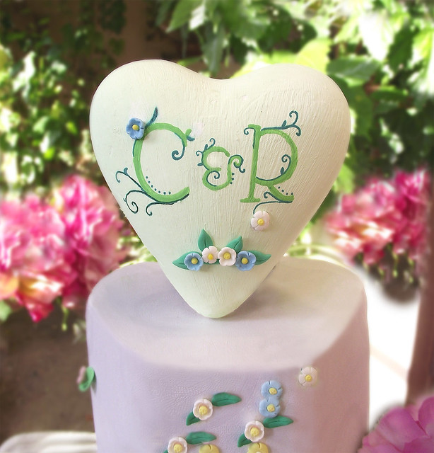 Heart wedding cake topper