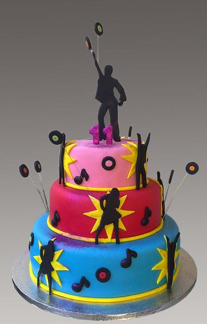 Cake Ideas Disco Birthday Party : Disco Party Cake Flickr - Photo Sharing!