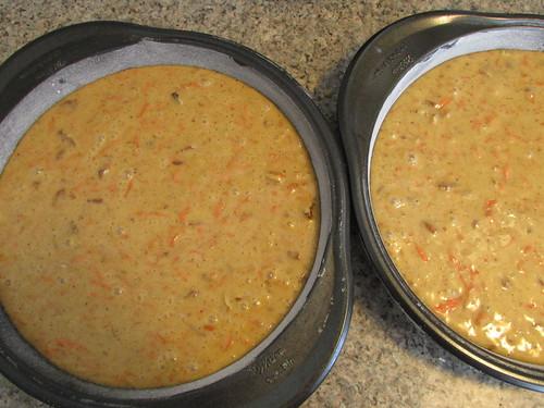 batter in floured pans