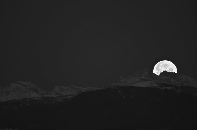 luna piena alpi