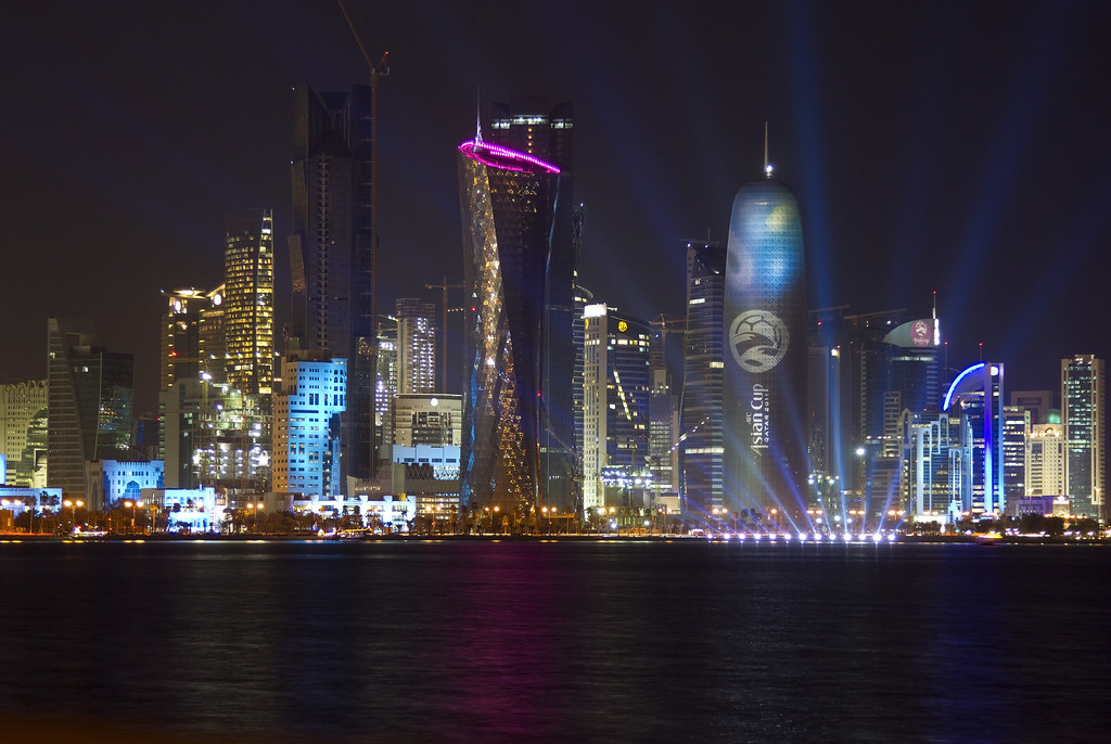 Doha Qatar skyline Asian Cup 2011 version