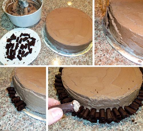 Cake Decorating Chocolate Curls : Chocolate Curl Wedding Cake tutorial Ashlee Marie