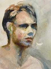 Watercolor of a figure study