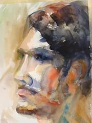 Alex portrait in watercolor