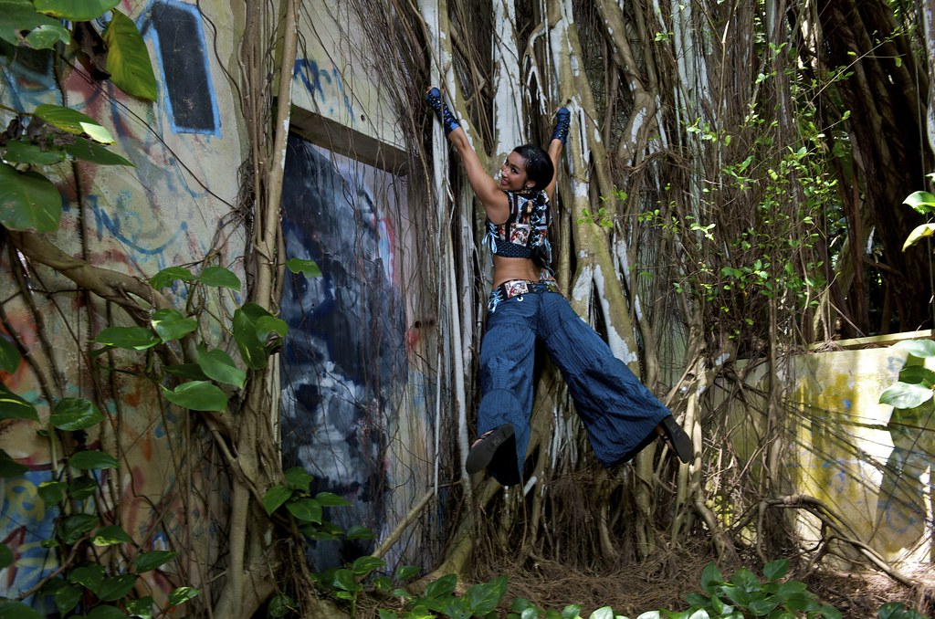 Anasma blue jungle church window photo by Joe marquez pants by Sandralis Gines  vest Tempest 012