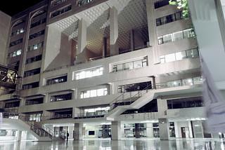North South University - night - inner facade - 2010