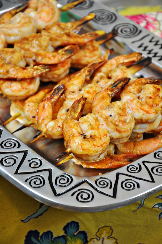Grilled Shrimp with Dark Rum Glaze