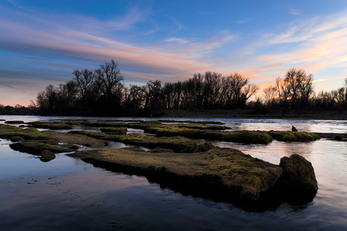 ca sunset landscape us redding sacramentoriver bedrock furrows nothdr brianrueb