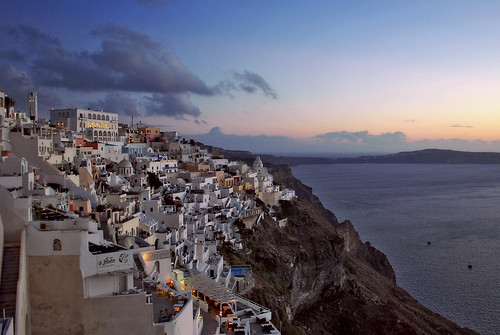 JEKA Photography: Santorini Fira at Sunset/ Greece/ Santorini/