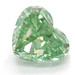 Fancy Green Heart Shaped Diamond by Leibish & Co