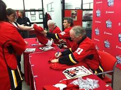 Lanny, Trevor & Mark signing jerseys #SHDiC