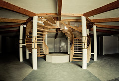 floor, wood, room, property, loft, architecture, house, beam, interior design, stairs,