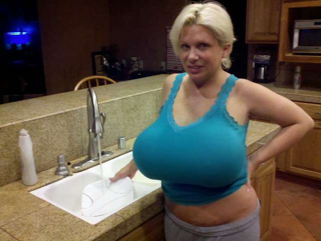 Claudia Marie Washing Dishes