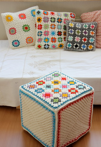 All my colors..pouf and cushions