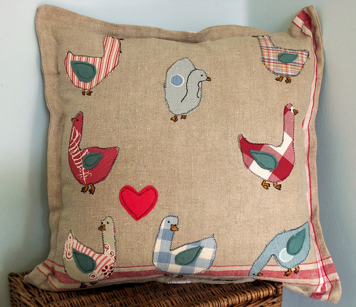 Birds of a Feather: Geese Cushion