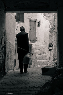 elderly guide of Moulay Idriss, Morocco